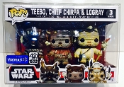 Funko Small 3 Packs Ewoks, Chrome, Snap, Rush Etc  (2 Pack)